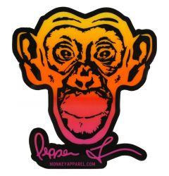 Monkey Sport by Pepper Foster - Monkey Logo Sticker (Yellow/Pink)