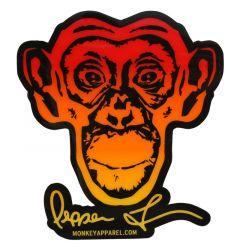 Monkey Sport by Pepper Foster - Monkey Logo Sticker (Red/Yellow)