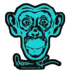 Monkey Sport by Pepper Foster - Monkey Logo Sticker (Teal)