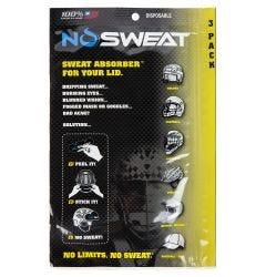 NoSweat Helmet Sweat Liner - 3 Pack