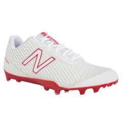 New Balance Burn X Low-Cut Men's Lacrosse Cleats - White/Red