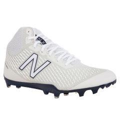 New Balance Burn X Mid-Cut Men's Lacrosse Cleats - White/Blue
