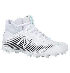 New Balance Freeze 2.0 Youth Mid-Cut Lacrosse Cleats - White/Black