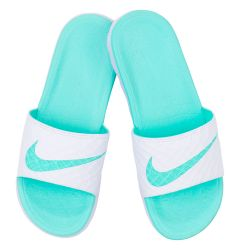 Nike Benassi Solarsoft 2 Women's Slide Sandals - White/Artisan Teal