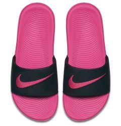 Nike Kawa Girl's Slide Sandals - Black/Vivid Pink