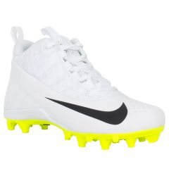 Nike Alpha Huarache 6 BG Youth Lacrosse Cleats - White/White/Black/Volt