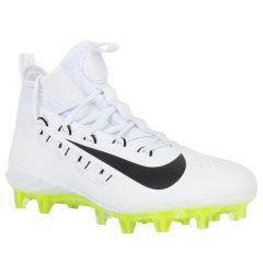 Nike Alpha Huarache 6 Elite Men's Lacrosse Cleats - White/Black/Volt