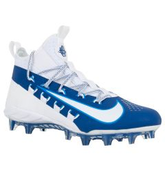 Nike Alpha Huarache 6 Elite Men's Lacrosse Cleats - White/Gym Blue/Photo Blue