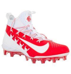 Nike Alpha Huarache 6 Elite Men's Lacrosse Cleats - White/University Red/Light Crimson