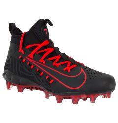 Nike Huarache 6 Elite Limited Edition Men's Lacrosse Cleats - Black/Black/Red Orbit
