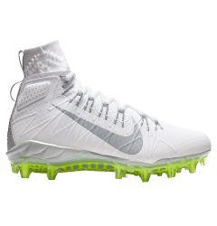 Nike Alpha Huarache 7 Elite Adult Lacrosse Cleats - White/Gray/Volt - '19 Model