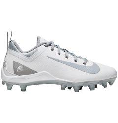 Nike Alpha Huarache 7 Youth Lacrosse Cleats - White/Gray