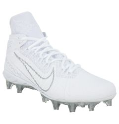 Nike Alpha Huarache 7 Elite Adult Lacrosse Cleats - White/Silver