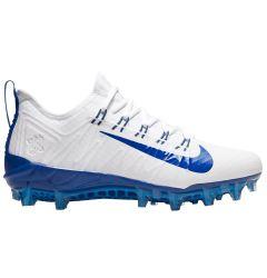 Nike Alpha Huarache 7 Pro Adult Lacrosse Cleats - White/Blue - '19 Model