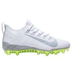 Nike Alpha Huarache 7 Pro Adult Lacrosse Cleats - White/Gray/Volt - '19 Model