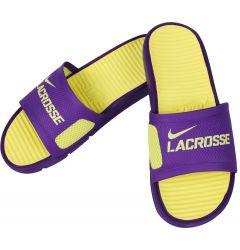Nike Benassi LX Lacrosse Slides - Purple/Yellow
