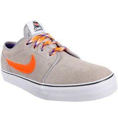 Nike Toki Low Lacrosse Shoe - Gray/Orange