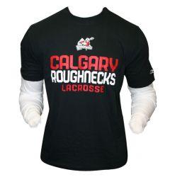 Reebok Calgary Roughnecks N.L.L Layered Long Sleeve Lacrosse Tee Shirt