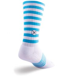 SockGuy SGX Neon Lacrosse Socks - White/Blue