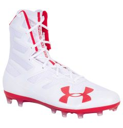 Under Armour Highlight MC Men's Lacrosse Cleats - White/Red - '19 Model