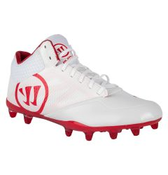 Warrior Burn 9.0 Mid Lacrosse Cleats - Red