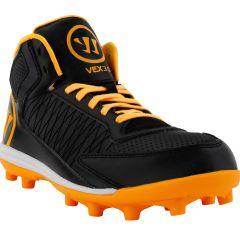 Warrior Vex 3.0 Junior Lacrosse Cleats - Black/Orange
