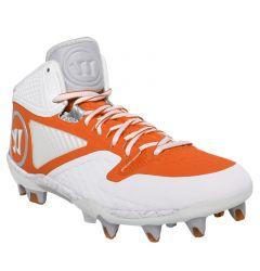 Warrior Adonis 2.0 Lacrosse Cleats - White/Orange
