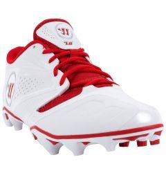 Warrior Burn 7.0 Low Lacrosse Cleats - Red