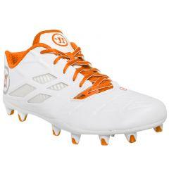 Warrior Burn 8.0 Low Lacrosse Cleats - White/Orange