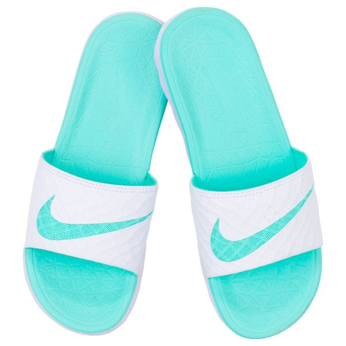 Adiós Incorporar temblor  Nike Benassi Solarsoft 2 Women's Slide Sandals - White/Artisan Teal