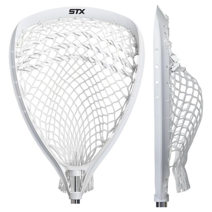 STX Lacrosse Shield 100 Goalie Strung Head, White - Best For Design