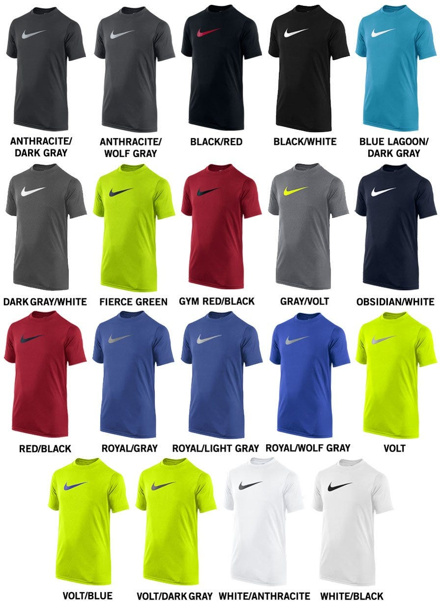 Nike Legend Youth Short Sleeve Shirt