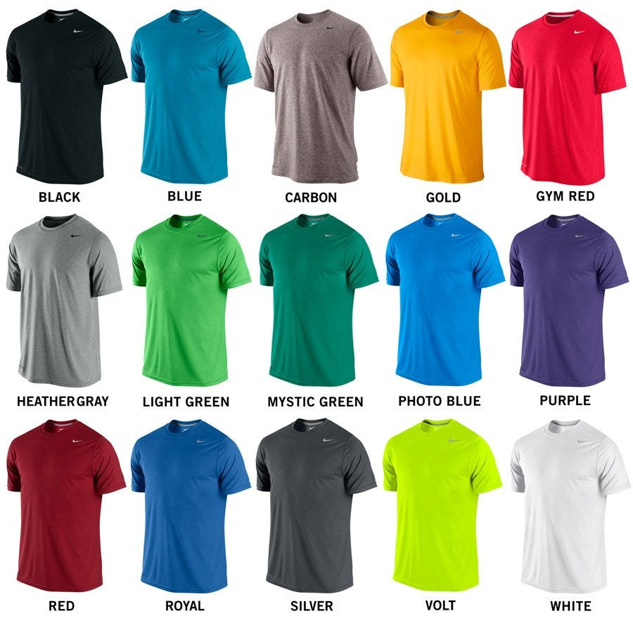 Nike legend poly senior short sleeve tee shirt color chart nike legend poly adult tee shirt geenschuldenfo Image collections