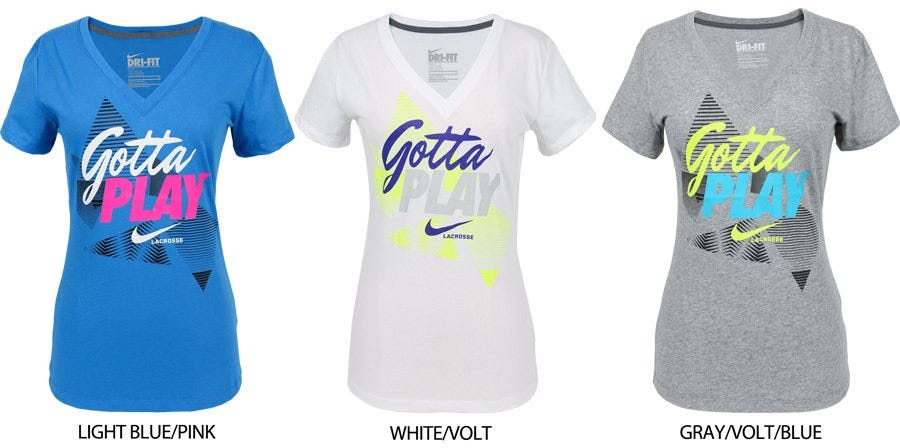 Nike Cotton V-Neck Women's Lacrosse Tee