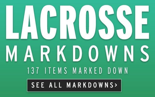 Markdowns on Lacrosse Equipment