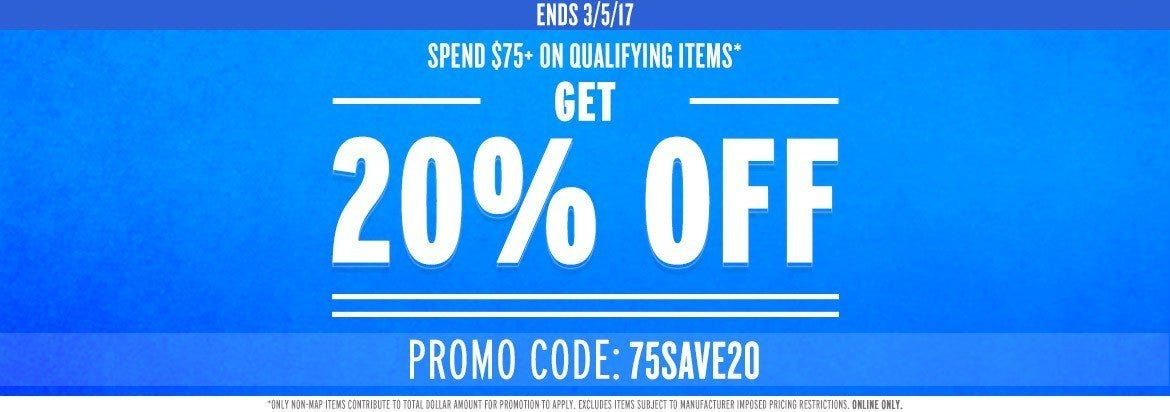 Spend $75 or More, Save 20%