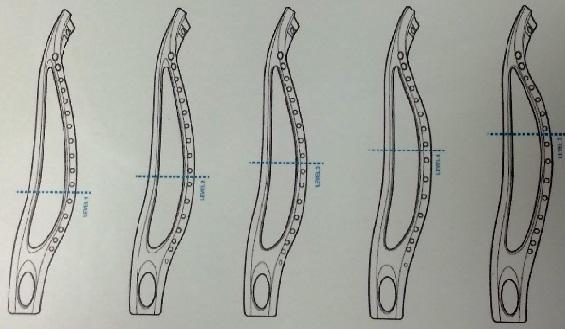 lacrosse head rail configurations