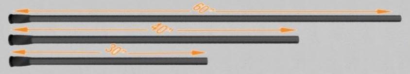 lacrosse shaft sizes